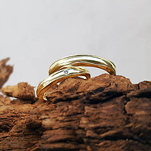 Prstene - Natural wedding bands - 7681315_