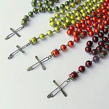 Iné šperky - Metalický ruženec - rôzne farby - 7678935_