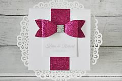 Papiernictvo - Svadobné oznámenie Trblietavá Lady - 7680858_