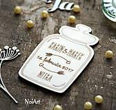 Magnetky pre svadobných hostí Pohár