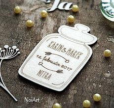Darčeky pre svadobčanov - Magnetky pre svadobných hostí Pohár - 7680605_