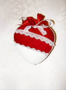 Dekorácie - Srdce patchwork 2 - 7681387_
