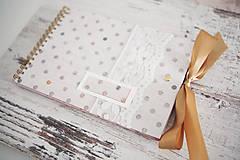 - Bodka - scrapbook fotoalbum s mašľou - 7680595_