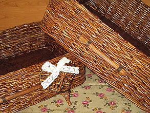 Košíky - Košíky- Ebenové šuflíčky II - 7678838_