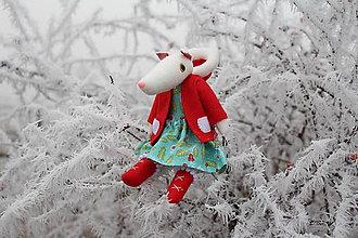 Bábiky - Snežná líška Eliška - 7678802_