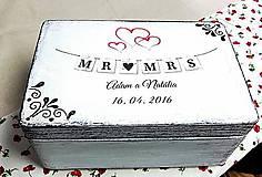 Krabičky - Svadobná krabička - 7678228_