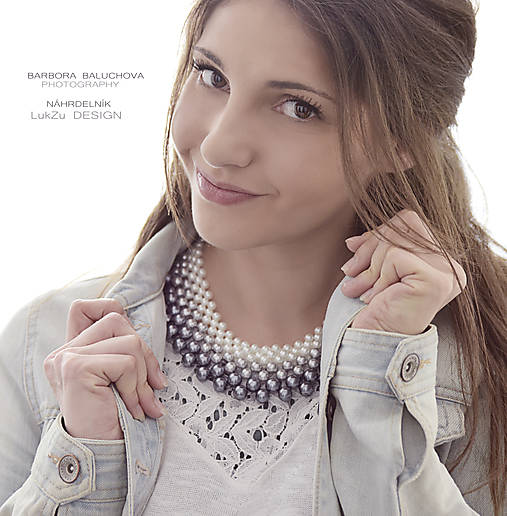 ombre perlový náhrdelník podľa želania