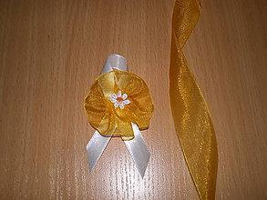 Pierka - svadobné pierko bielo-oranžové V. - 7680099_