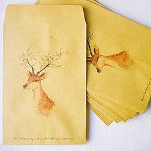 Papier - obálka bratček jelenček, 110 x 160 mm - 7679504_