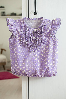 Detské oblečenie - fialová lúka. - 7681578_