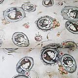 Textil - Santoro Curiosity Lost and Found, bavlnená látka 60 x 110 cm - 7679425_