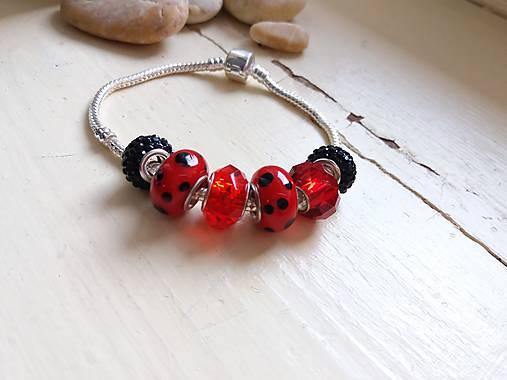 Pandora náramok červenočierny   Johnny7 - SAShE.sk - Handmade Náramky 1091a6fc1cf