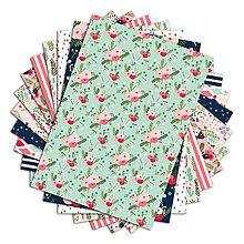 Papier - PPK012 Color Factory Sada papierov 100g/m2 A4, 48 listov, Kvetiny - 7679140_