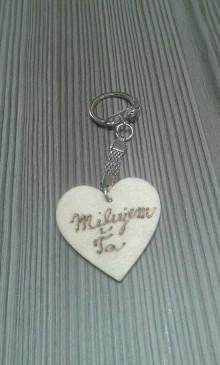 Kľúčenky - Prívesok na kľúče - Milujem Ťa - 7681377_