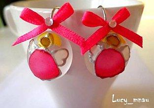 Náušnice - Náušničky anjeliky-ružové:) - 7680751_