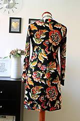 Šaty - Úpletové šaty kvetované - 7681298_
