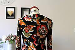 Šaty - Úpletové šaty kvetované - 7681307_