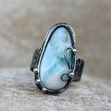 Prstene - Larimar prsteň - 7681383_