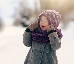 Detské doplnky - Sněhová královna - nákrčník Vřesový - 7679659_