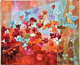 Obrazy - Malé divoké kvety - 7679979_