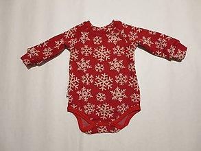 55a6c3bb0 Detské oblečenie - Merino body červené vločky - veľkosť 68/74 - 7686475_