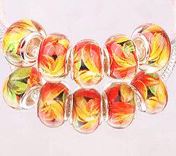 Korálky - Elegantná korálka na PANDORA náramok - kvety - 7684359_