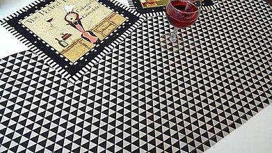 Úžitkový textil - Black Triangles ... behúň, štóla - 7684498_