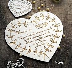 Tabuľky - Srdce Poďakovanie rodičom 21 - 7683960_