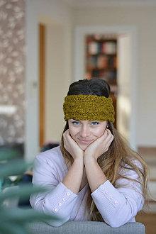 Ozdoby do vlasov - Olivová  čelenka - 7682593_
