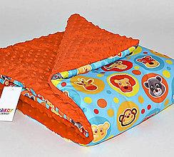 Textil - Dizajnová prikrývka Takoy 75x100 - mat 331/06 do postieľky, kočíka - 7683297_