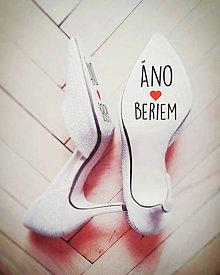 Darčeky pre svadobčanov - Nálepky na svadobné topánky - 7683731_