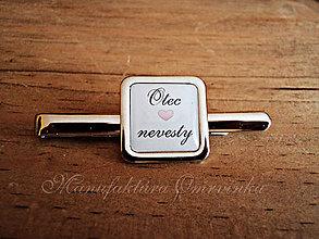 Šperky - Spona na kravatu-otec nevesty - 7685659_