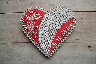 Dekorácie - Valentínske medovníkové srdce - 7684363_
