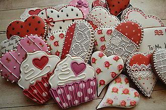 Dekorácie - Valentínska medovníková sada - 7684411_