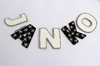 Tabuľky - Meno z drevených písmen JANKO - 7682509_