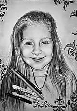 Obrazy - Dievčatko-portrét - 7683829_