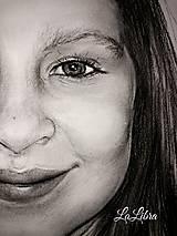 Kresby - Dievčatko-portrét - 7683831_