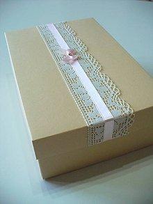 Krabičky - krabička na náramky pre družičky - 7684386_