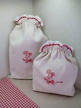 Úžitkový textil - Ľanové vrecká z ručne tkaného plátna - sada 2 ks - 7684050_
