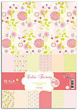 Papier - PPK014 Color Factory Sada papierov 100g/m2 A4, 48 listov farby Ružová / zelený aníz - 7685129_