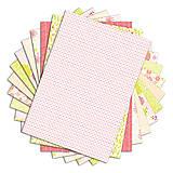 Papier - PPK014 Color Factory Sada papierov 100g/m2 A4, 48 listov farby Ružová / zelený aníz - 7685130_