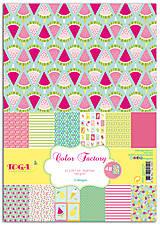 Papier - PPK017 Color Factory Sada papierov 100g/m2 A4, 48 listov Leto - 7685170_