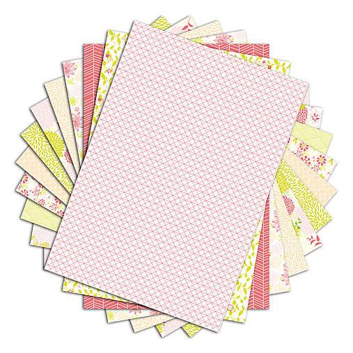 PPK014 Color Factory Sada papierov 100g/m2 A4, 48 listov farby Ružová / zelený aníz