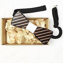 Oblečenie - Dizajnový drevený motýlik