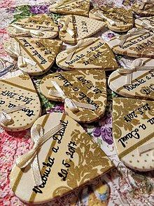 Darčeky pre svadobčanov - zlaté magnetky pre svadobčanov - 7685909_