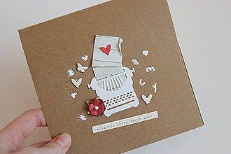 Papiernictvo - Romantická pohľadnica - 7682305_