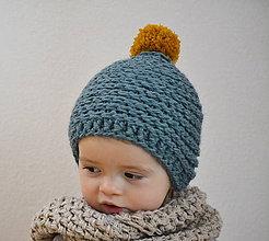 Detské čiapky - Mini...morská - 7683636_