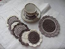 Úžitkový textil - Prestieranie, podšálky  čaj alebo káva?.... - 7684188_