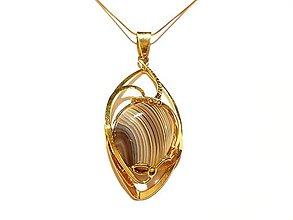 Iné šperky - Prívesok ACHÁT - 7684988_