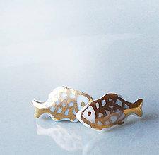 Náušnice - Zlaté rybky. - 7684211_